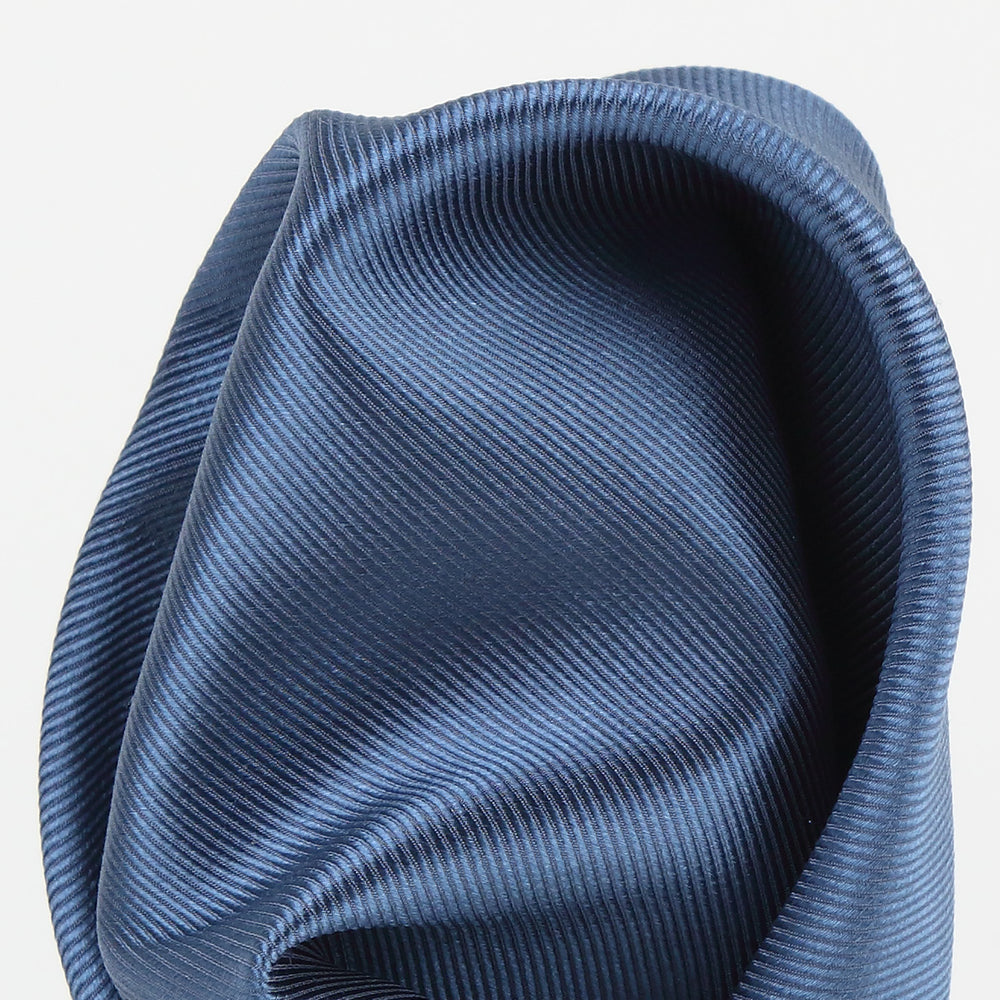 Slate - Twill Weave Silk Pocket Square