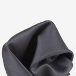 Charcoal - Twill Weave Silk Pocket Square