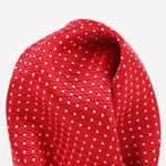 Red/White - Spotted Textured Weave Silk Pocket Square