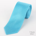 Turq/White - Spotted Textured Weave Silk Tie
