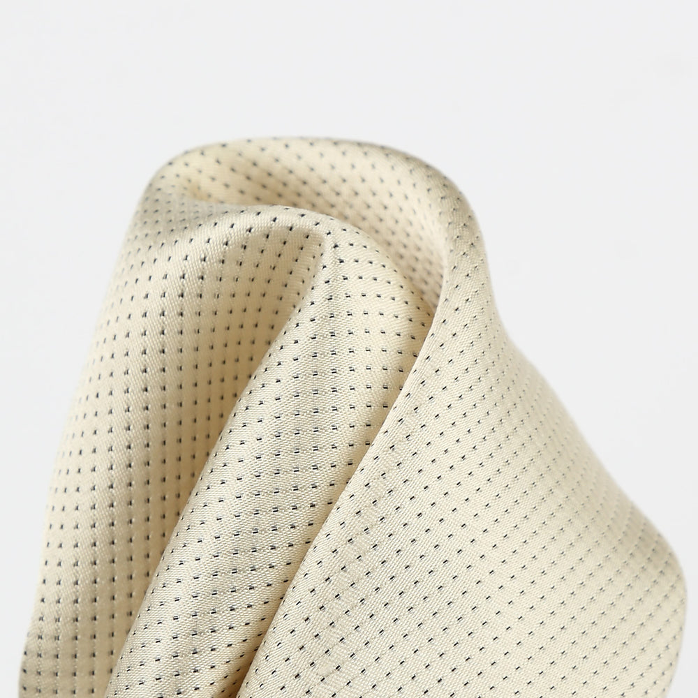 Ivory - Pin Point Satin Weave Silk Pocket Square