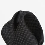 Black - Pin Point Satin Weave Silk Pocket Square
