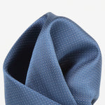 Slate - Pin Point Satin Weave Silk Pocket Square