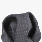 Charcoal - Pin Point Satin Weave Silk Pocket Square