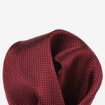 Burgundy - Pin Point Satin Weave Silk Pocket Square