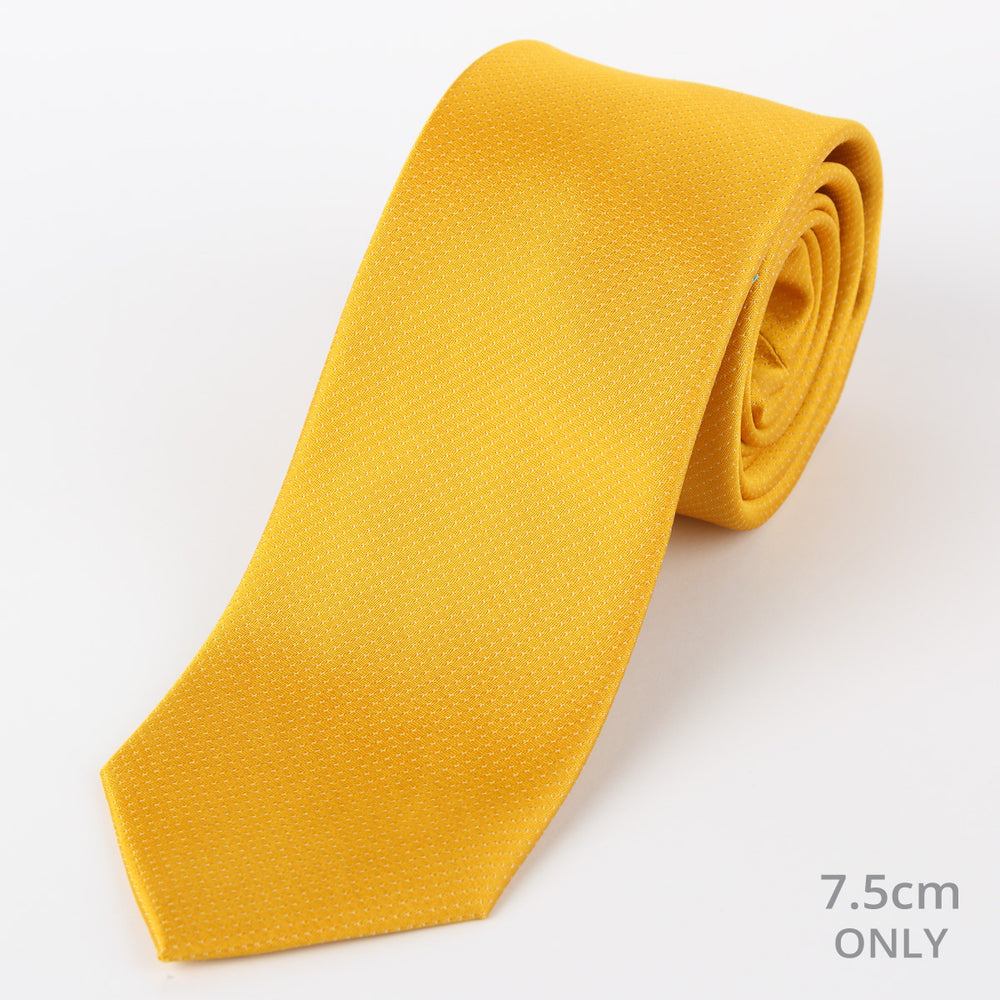 Gold - Pin Point Satin Weave Silk Tie