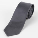 Charcoal - Pin Point Satin Weave Silk Tie