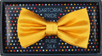 Gold - Twill Weave Silk Bow Tie