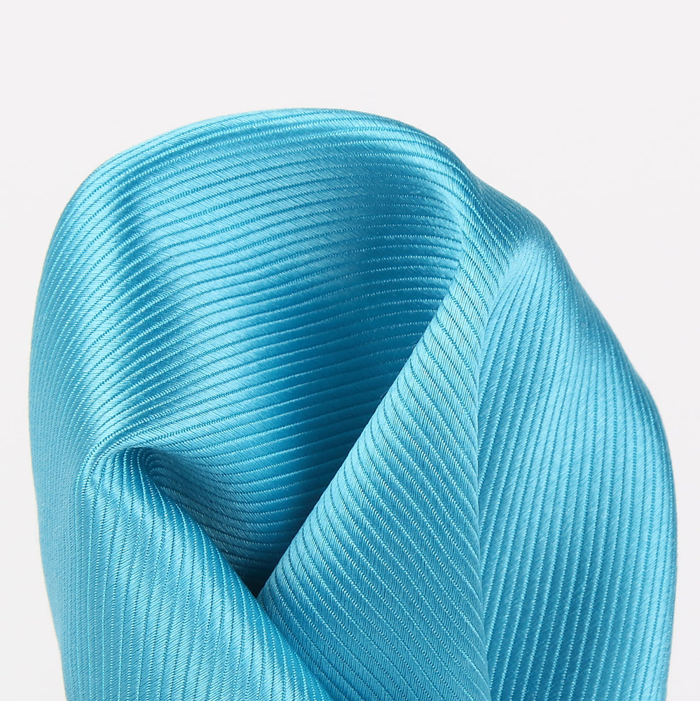 Turquoise - Twill Weave Silk Pocket Square