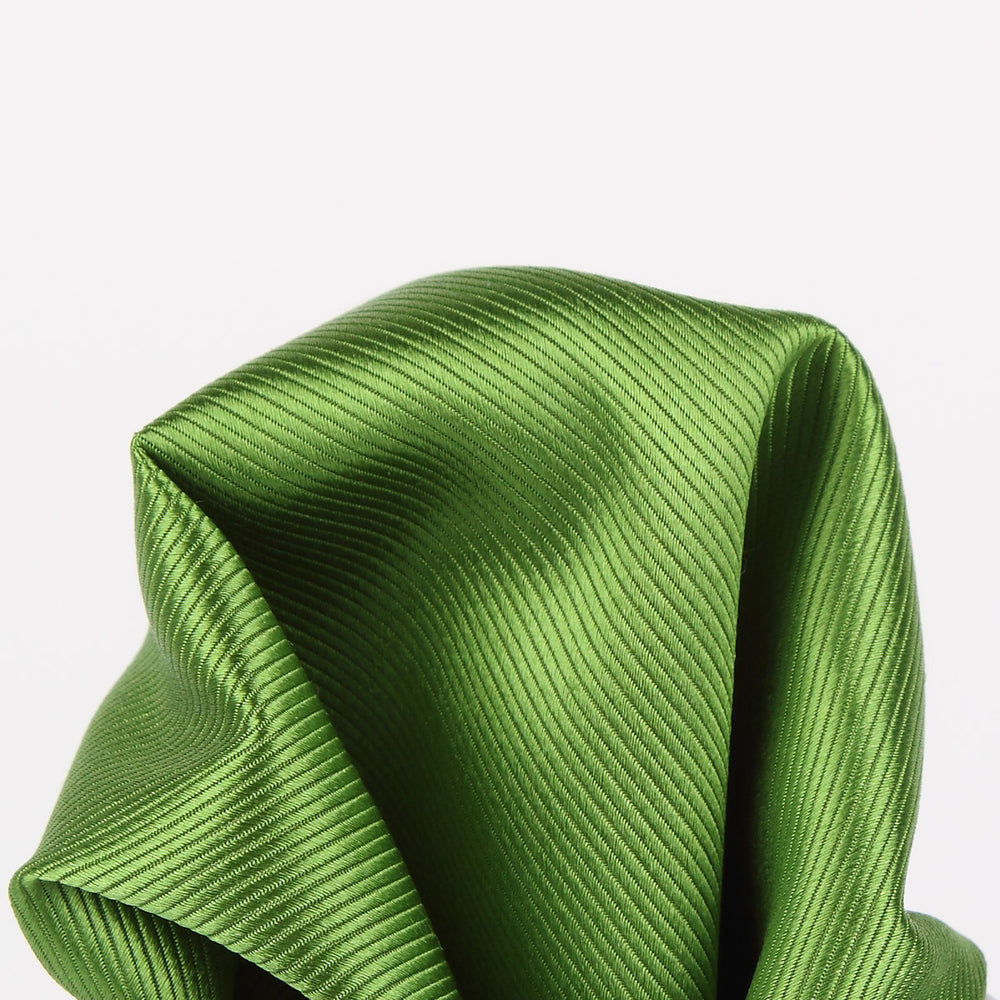 Green - Twill Weave Silk Pocket Square