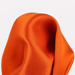 Orange - Twill Weave Silk Pocket Square