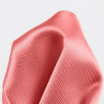 Coral - Twill Weave Silk Pocket Square