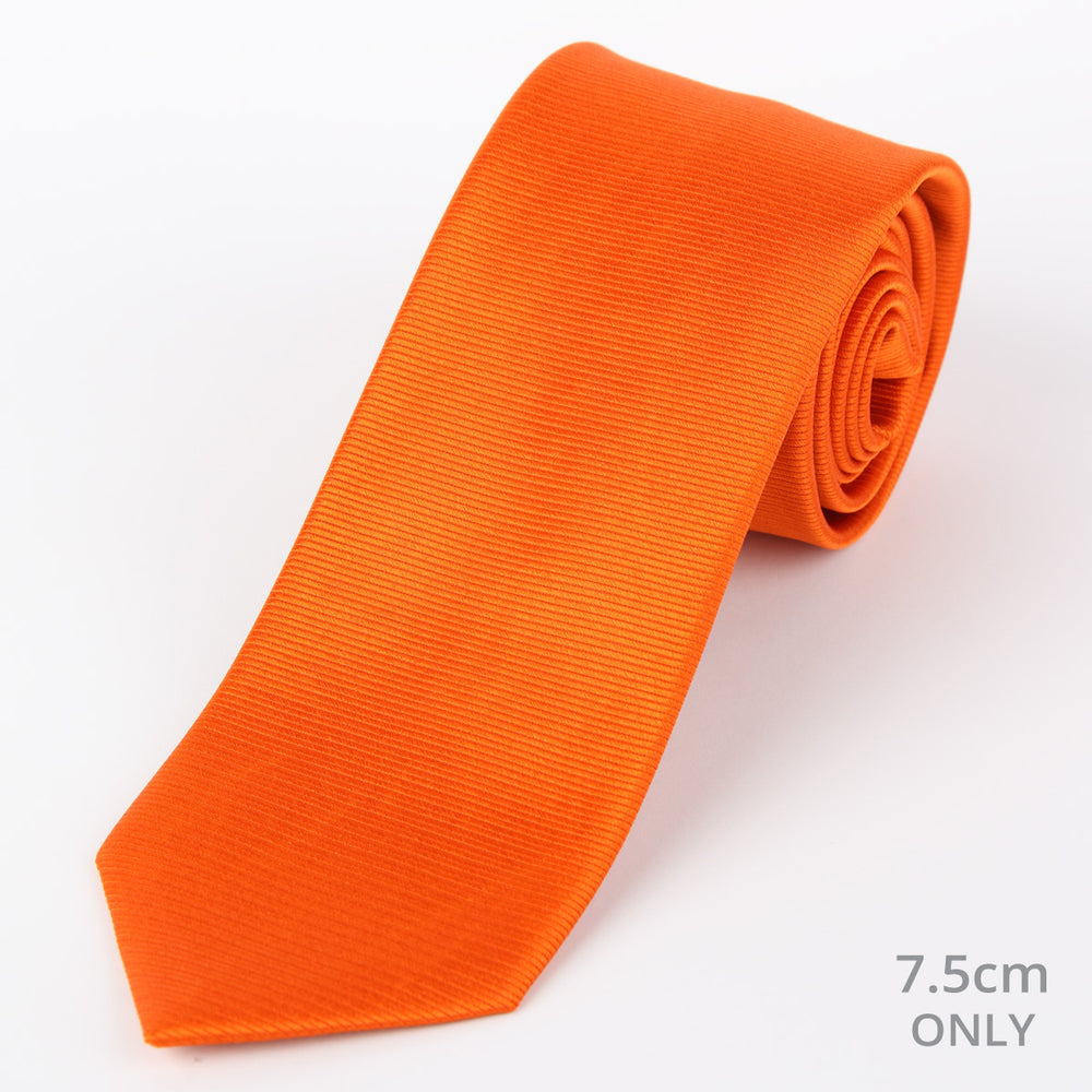 Orange - Twill Weave Silk Tie