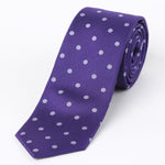 Purple - Polka Dot Silk Tie