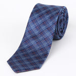 Navy - Check  Silk Tie