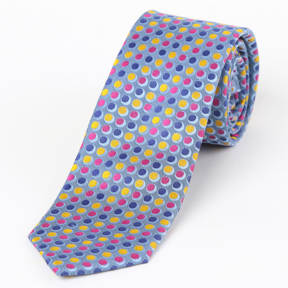 Blue - Spotted Silk Tie