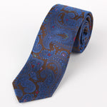 Brown - Paisley Silk Tie