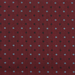 Burgundy - Mini Spotted Slub Textured Silk Pocket Square