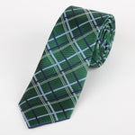 Green - Check Silk Tie