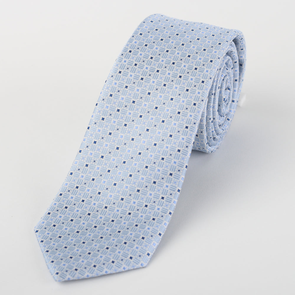 Sky - Mini Spot Geometric Silk Tie