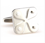 Silver - Four Leaf Clover Cuff Links