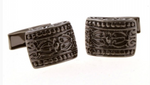 Black - Curved Totem Cuff Links