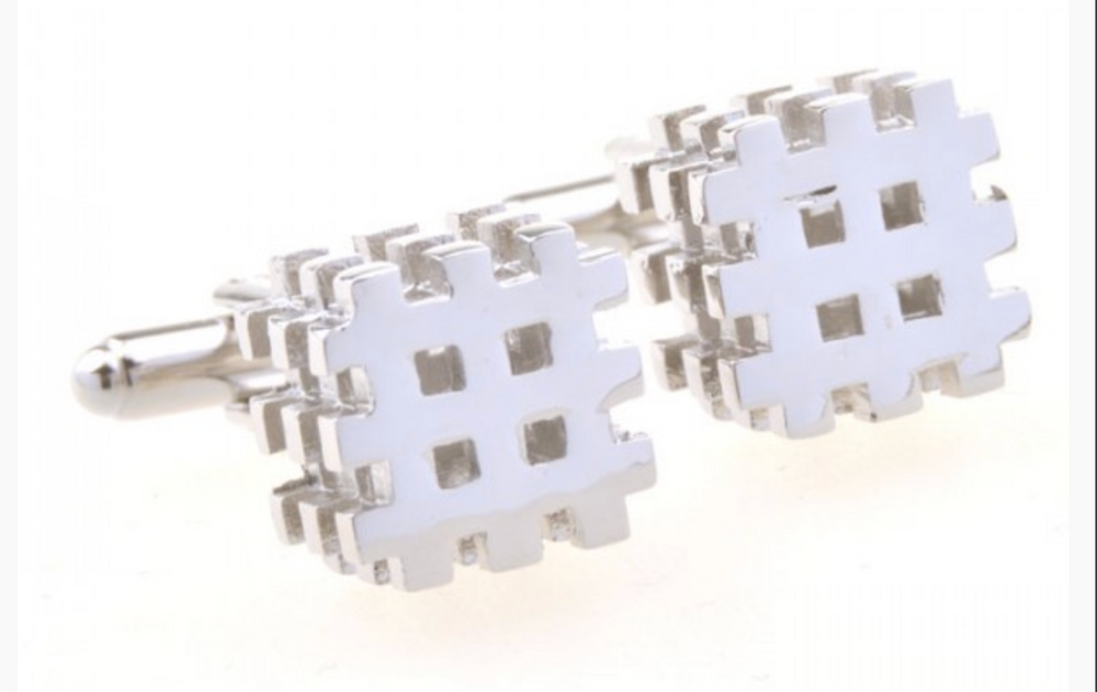 Silver - Cubed Cuff Links