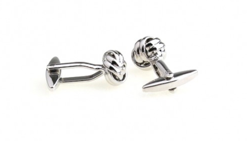 Silver - Love Knot Cuff Links