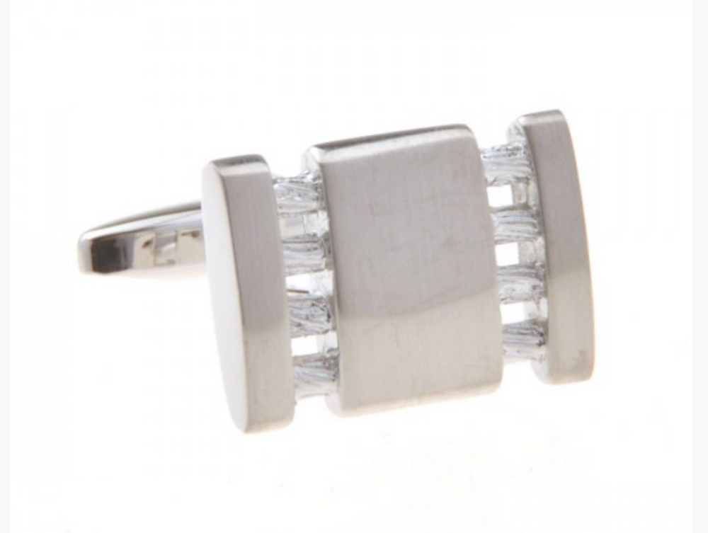 Silver - Hollow Lines Cuff Links