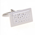 Silver - Rectangle Cuff Links