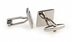 Silver - Square Frame Cuff Links