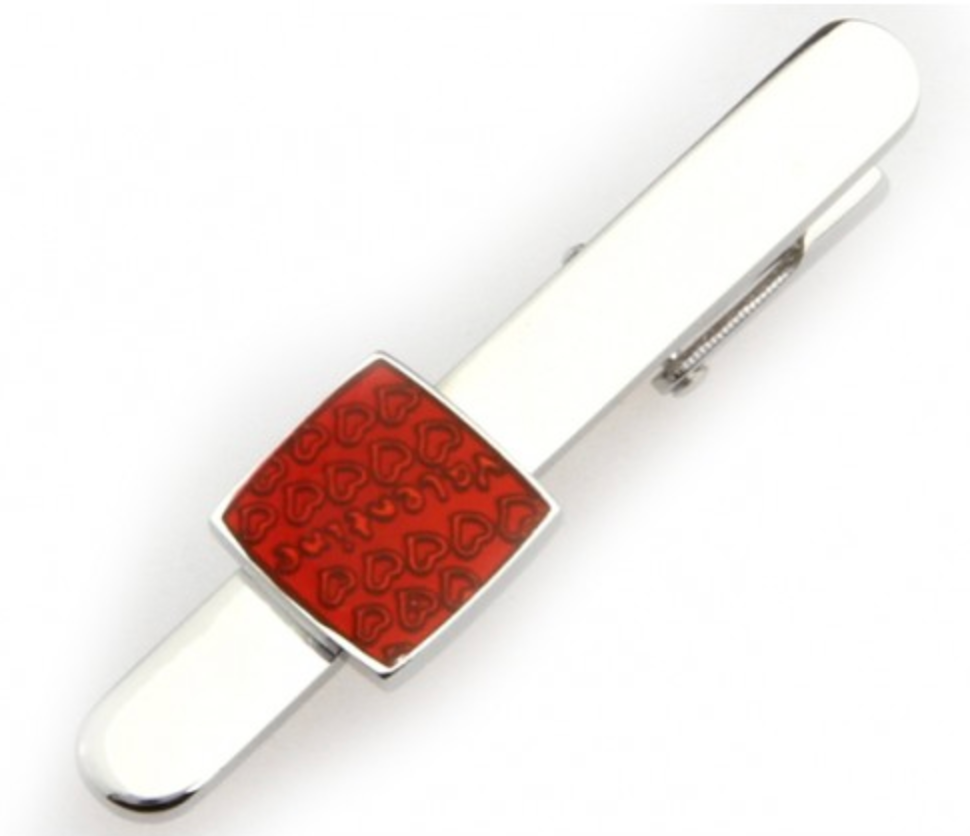 Silver/Red - Tie Bar