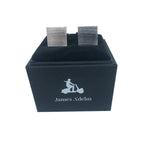 Silver - Square Matt Plain Cuff Links