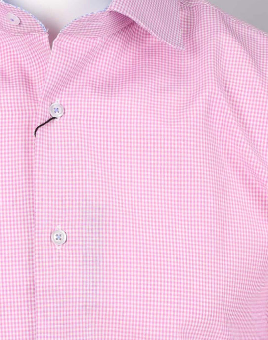 Pink/Sky - Gingham Check L/S Business Shirt