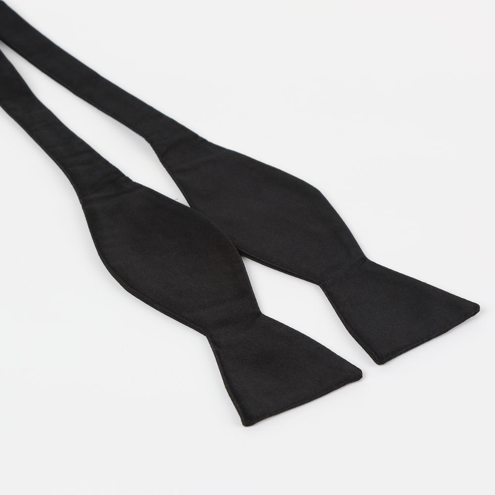 Black - Satin Weave Luxury Microfiber T.Y.O Bow Tie