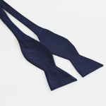 Navy - Satin Weave Silk T.Y.O Bow Tie