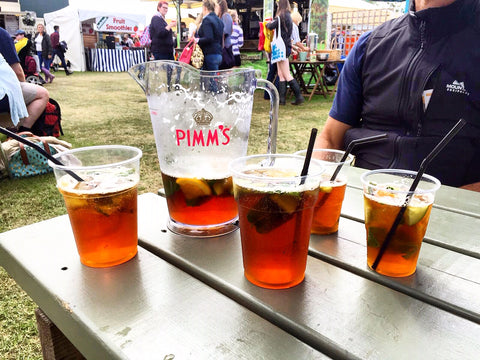 group having pimms at great yorkshire show for nordvek blog