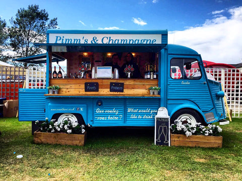 prosecco and pimms van at great Yorkshire show on Nordvek blog