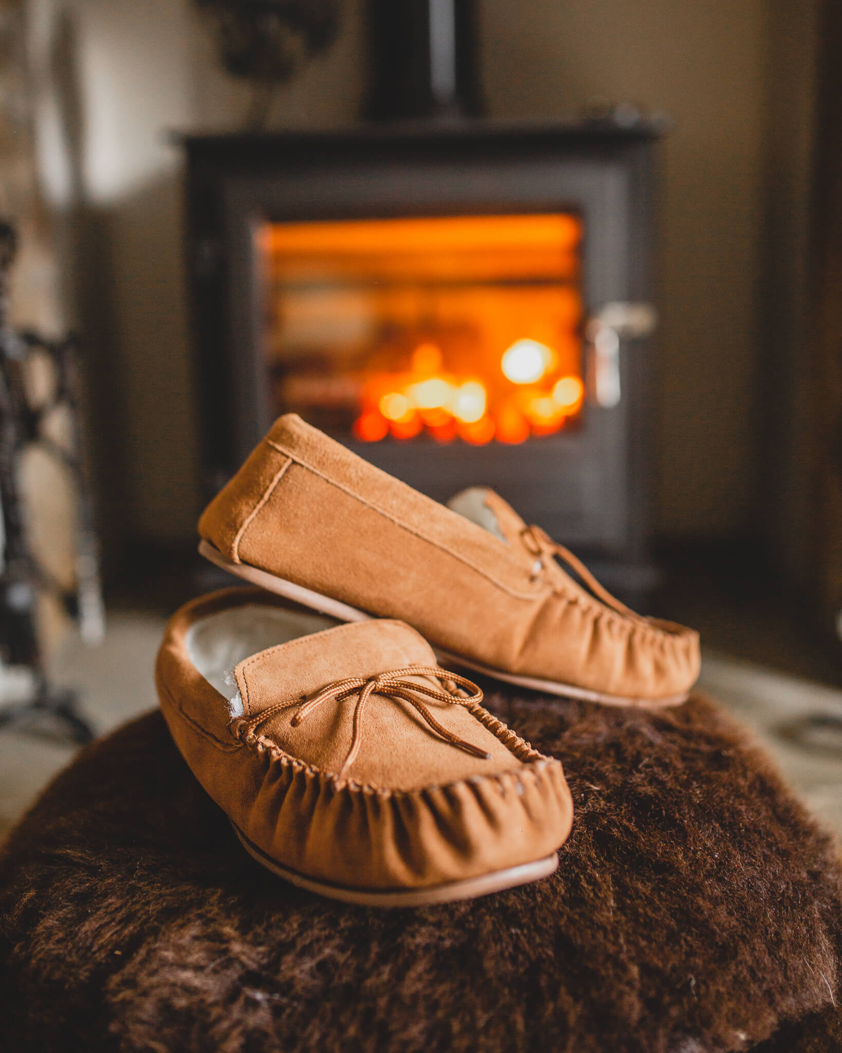 Mens Sheepskin Moccasin 422-100