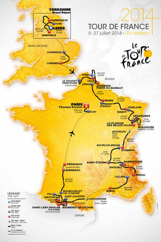 tour de France Yorkshire route 2014 Nordvek blog map