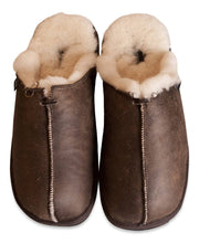 Shepherd Mens sheepskin slippers HUGO oiled antique  side by side