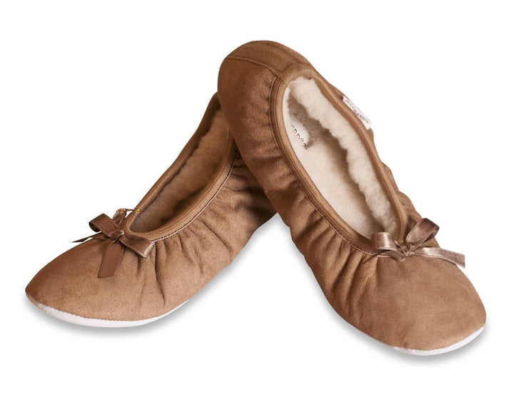 shepherd womens sheepskin slippers SAGA camel front