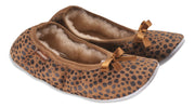shepherd womens sheepskin slippers SAGA leopard pair