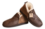 Shepherd Mens sheepskin slippers ANTON Checked brown overlap