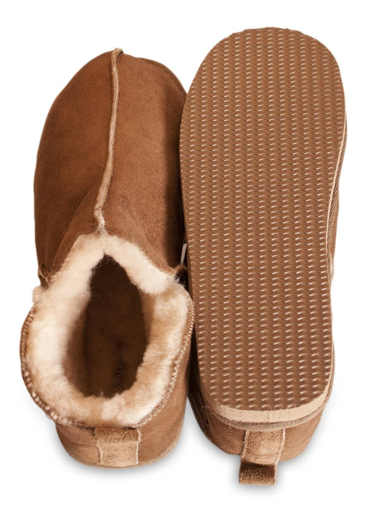 Shepherd womens sheepskin slippers ANNIE cognac  sole