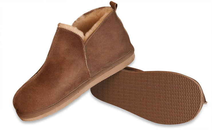 Shepherd Mens sheepskin slippers ANTON congnac pair
