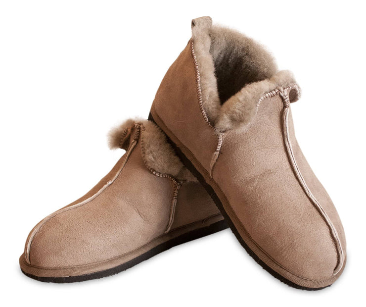 Shepherd womens sheepskin slippers ANNIE Stone  pair