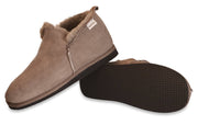 Shepherd Mens sheepskin slippers ANTON stone pair