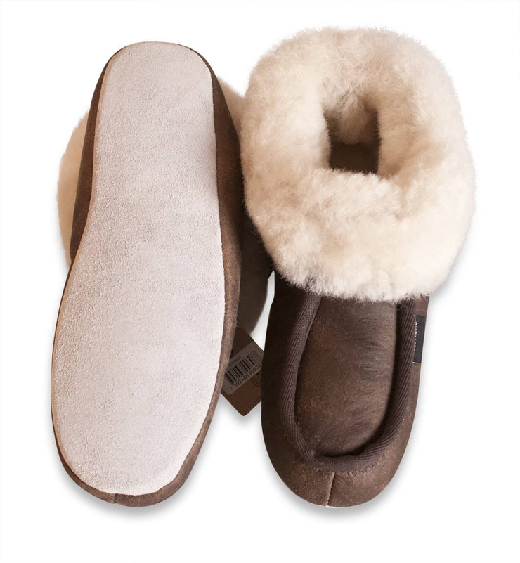 Shepherd womens sheepskin slippers MOA oiled antique pair