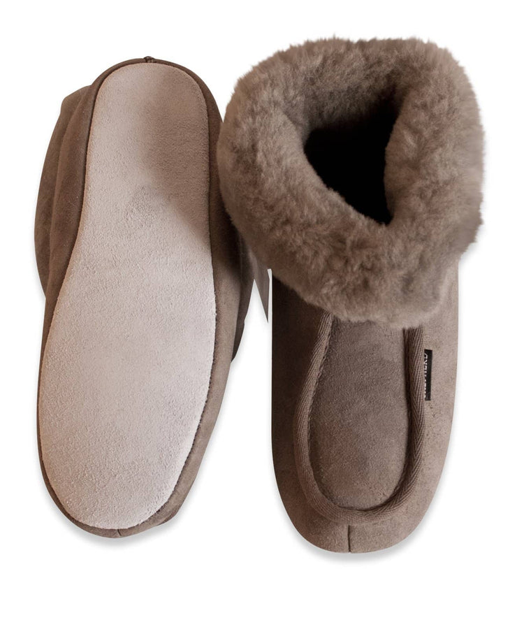 Shepherd womens sheepskin slippers MOA stone sole